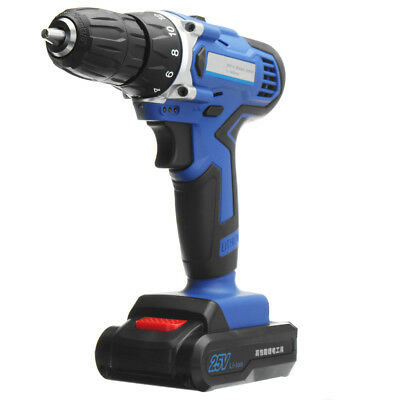 25V Lithium-Ion Battery Power Drill Driver Rechargeable Cordless Drill Electric