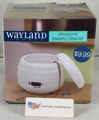 Wayland Square Ultrasonic Jewelry Cleaner - Fast and Convenient Cleaning - NEW