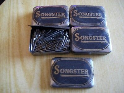 FOUR SONGSTER Gramophone LOUD TONE   Needle Tins (200 in each)
