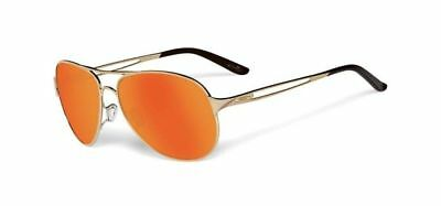 Oakley Womens Caveat Sunglasses Polished Gold/Fire Iridium Lens OO4054-17