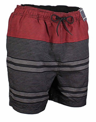 1dd92b648e Nautica Mens Quick Dry Swim Trunk Color Black and Red Stripes Various Sizes,  NWT