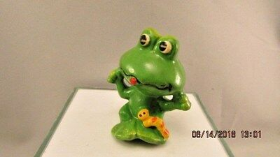 Frog Yellow Caterpillar Figurine Vintage Retro Napcoware Japan Small Ceramic
