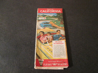 Vintage Flying A California Map