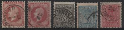 NORWAY: Sg 11, 22, 27, 29 Collection of Fine Used Examples - Cat £140 (16606)