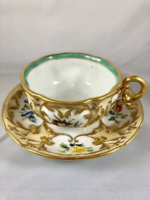 Antique Old Paris Ed. Honore Porcelain Pre-1840 Cup And Saucer Signed 4 Feet❤️