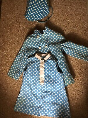 Vintage Mod Toddler Dress, Coat And Bonnet Outfit