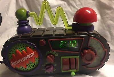 Vintage 1995 Nickelodeon Time Blaster Rise & Slime Digital Alarm Clock Radio