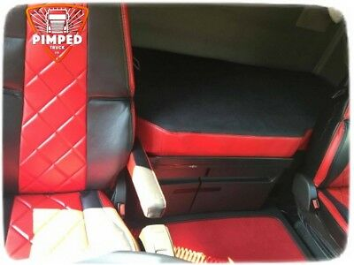 Bed Cover Volvo FH 4 ECO LEATHER Red mattress cover