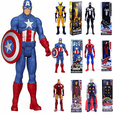 Marvel Super Hero Series Spider-man Thor Captain America 12 Inch Figure Kid Toy