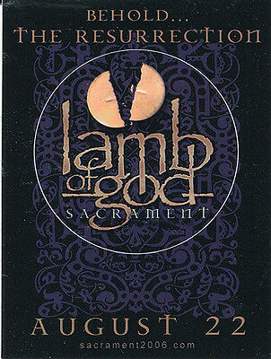 Lamb Of God Sacrament RARE promo sticker '06