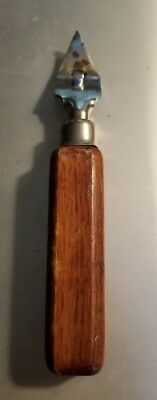 Vintage Edlund Can And Bottle Opener With Wood Handle  Collectible Made In USA