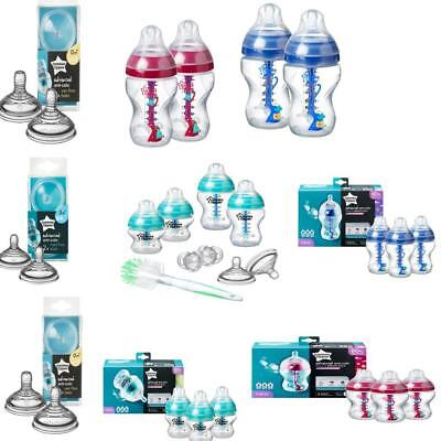 Tommee Tippee Advanced Anti-Colic Teats / Bottles - Aqua, Red, Blue