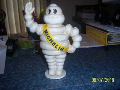 "Large Vintage Cast Iron Michelin Man Figural Bank 8 1/2"" Tall"
