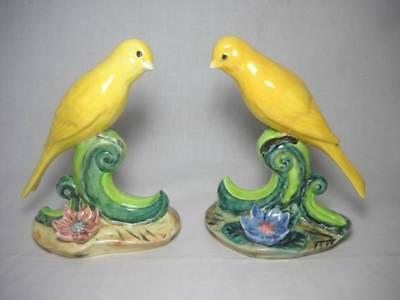 "2 Vintage Stangl Canary Figures 3746 & 3747  6 1/2"" Tall"