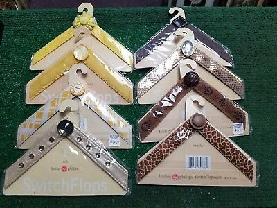 LOT OF 8 Different Lindsay Phillips Switchflops Straps SIZE LARGE 9-10-11 NIP