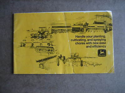 Vintage 1977 John Deere Implement Sales Brochure Seeders/Planters/Sprayers