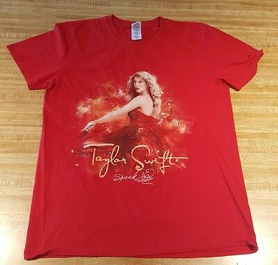Taylor Swift Speak Now Concert T Shirt Women Juniors Country Pop Music Medium A5