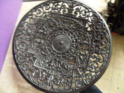 large arts and crafts period cast iron charger ,carron iron works
