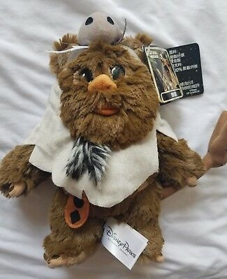"NWT Disney Parks Star Wars 9"" Plush Paploo Ewok Doll Return of the Jedi ROTJ"