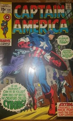 FIVE CLASSIC Captain America Comic Books - Infinity War. Red Skull Falcon 1 of 4