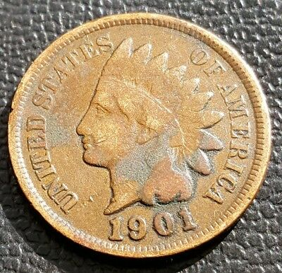 1904 Indian Head Penny Fine/ Very Fine Details.