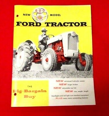 New 600 Model Ford Tractor Sales Brochure