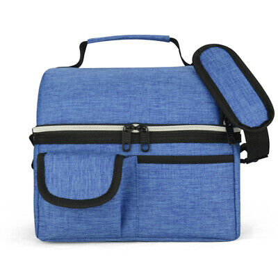 Eaglemate 10L Dual Compartment Insulated Lunch Bag Cooler Bag School Picnic Work