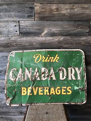 Vintage Canada Dry Tin Embossed Sign