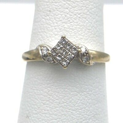 Lady's Gold Ring 14K White Gold 1.85g Size:6.3 (431780-1)
