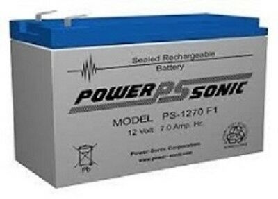 Power Sonic PS1270F1 12V 7AH SLA House Alarm & UPS Battery
