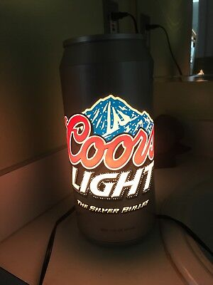 Coors Light Beer Rotating Light Shape of a Beer Can Lamp Sign Advertising