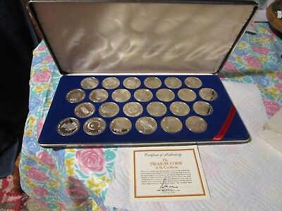 Silver Proof 'British Virgin Islands' Treasure Coins of The Caribbean 25 Coins