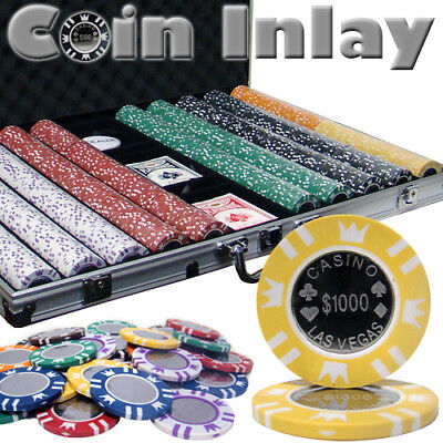 1000 Ct Aluminum Custom Breakout - Coin Inlay 15 Gram Chips in Aluminum Case