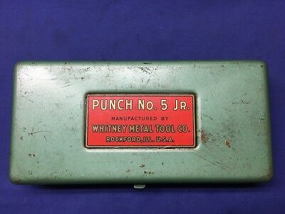 Vintage WHITNEY-JENSEN PUNCH No. 5 Jr. HAND PUNCH