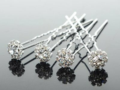 10pcs stunning crystal bridal hair pins clips accessories hairpins wedding party
