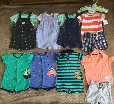 Baby Boy SUMMER Spring 24 months Clothes 17 pieces LOT Gently used, some nwt