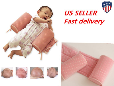US Newborn Infant Sleep Positioner Anti-Roll Baby Pillow Wedge safety