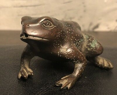 Antique Asian Chinese Bronze Fountain Frog Statue