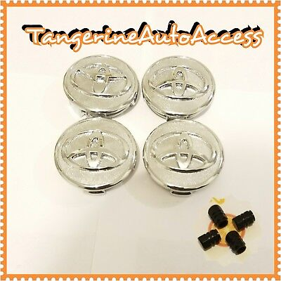 Set Of 4 Toyota Wheel Center Hub Caps 57mm | Get 4 Free Tire Valve Caps