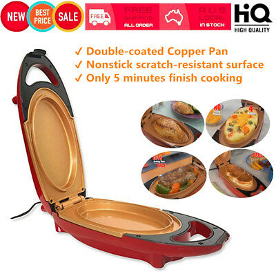 Copper Pan Double-Coated Smokeless Non-stick 5 Minute Chef Electric Cooker B2