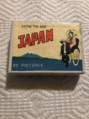 Vintage Post WW2 HOW TO SEE JAPAN, 46 VIEWS OF TOKYO SMALL 46 PICTURES PHOTOS