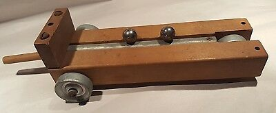 ANTIQUE VTG WOOD Car CART Physics Force & Motion Velocity-FLETCHER'S TROLLEY-LAB