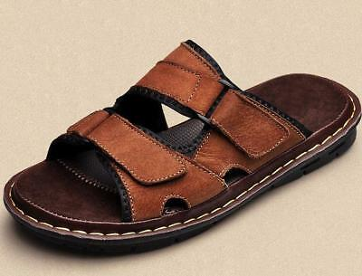 1325669f3 Men s Slippers Casual Beach Faux Leather Sandals Shoes Slip On Beach Size  5-11