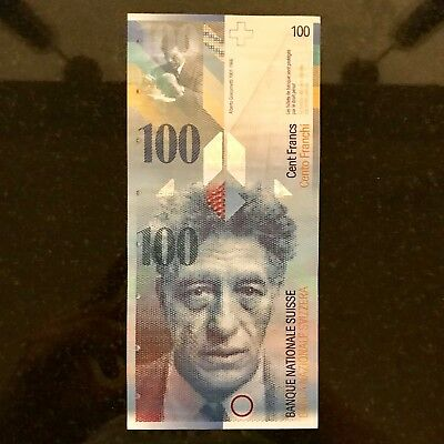 SWITZERLAND SWISS 100 FRANC Note Eighth Series