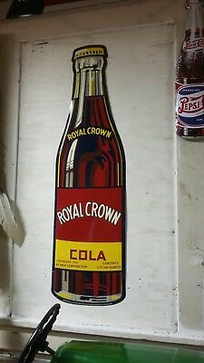 VTG. Royal Crown Cola Sign Stout Sign Co. Limited Production only 800 Very Rare
