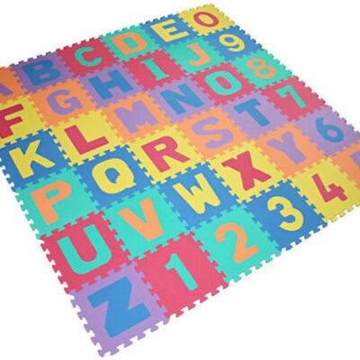 36pcs Soft EVA Foam Baby Kids Play Mat Alphabet And Numbers 3+ Puzzle 2 Sizes
