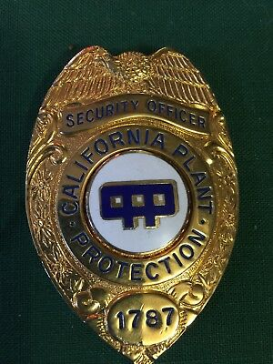 California Security Plant Officer Badge