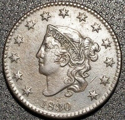 1830 Coronet/Matron Head Large Cent N-8 Very Nice Coin For Your Collection