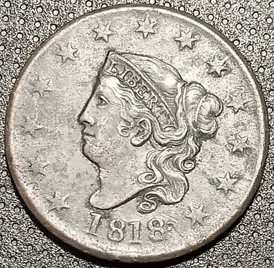 1818 Coronet/Matron Head Large Cent N-1 R-2+ Very Nice Coin For Your Collection