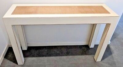 Asian White Lacquer Console/Hall/TV Table **Everything must go, moving sale